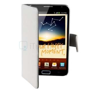 Leather Case Pouch For SAMSUNG Galaxy Note N7000 i9220 WHITE