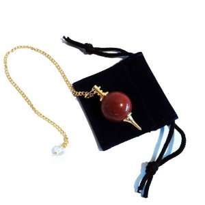 Pendulum Red Jasper (Gold Plated)