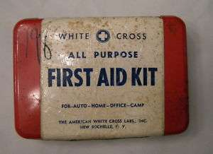 White Cross First Aid Kit, Original Supplies Inside