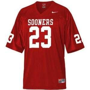 Oklahoma Sooners #23 NCAA Youth Replica Football Jersey by