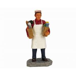 Lemax Christmas Village Collection Grocery Boy Figurine
