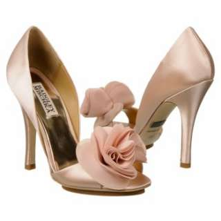 Womens Badgley Mischka Randall Light Pink Satin Shoes