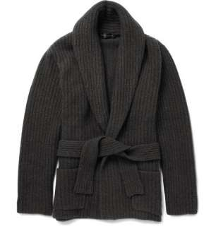 Ralph Lauren Black Label Shawl Collar Cashmere Blend Cardigan  MR
