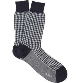 Socks  Casual socks  Merino Wool Blend Houndstooth Socks