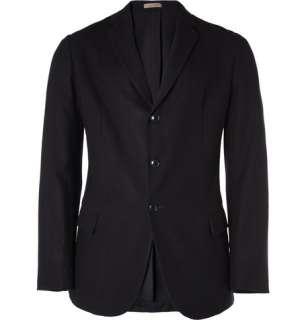 Clothing  Blazers  Single breasted  Slim Fit Cashmere Blazer