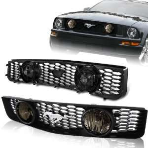 2005   2009 Ford Mustang V6 Front Grille with Smoked