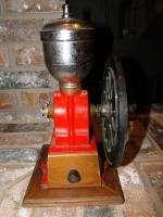 1930s ELMA COFFEE GRINDER CAST IRON EUROPEAN SPAIN 8 HAND CRANK WHEEL