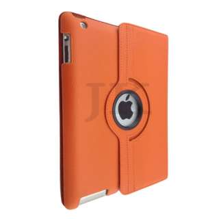 New iPad 360 Rotating Magnetic Leather Case Smart Cover Apple iPad 2