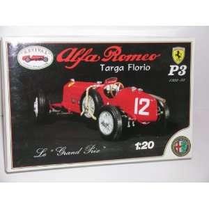 Alfa Romeo Targa Florio Classic Racing Car   Plastic Model