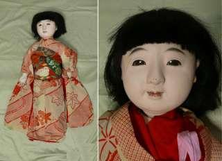 RARE MEIJI Japanese Geisha Kimono Ichimatsu Gofun Doll Ningyo #3 w