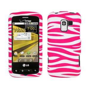 Pink Zebra White Crystal Hard Skin Case Faceplate Cover w