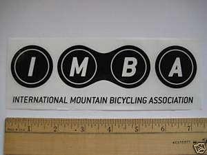 IMBA BLACK MTB Mountain Bike Race Bicycle DECAL STICKER