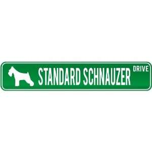 New  Standard Schnauzer Drive  Street Sign Dog
