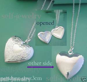 best silver openable locket necklace (many stlyes)