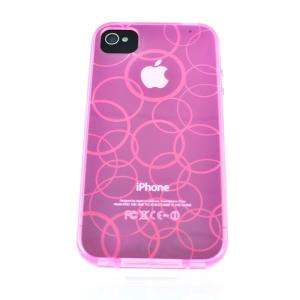 Soft Silicone Rubber Case Cover Skin For iPhone 4S 4 4G CDMA AT&T PINK