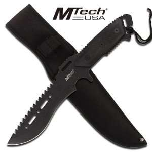 com M Tech Tactical Combat Fighting Knife   Black Sports & Outdoors