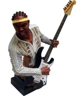 18 Jazz Musician Statue Electric Guitar Player Collezione di Tesoro