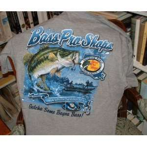 Bass Pro Shop New Tee Shirt Gray Size Large NWT