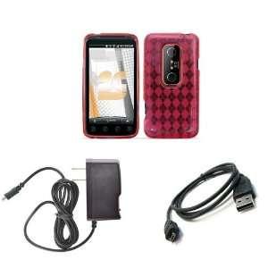 HTC EVO 3D (Sprint) Premium Combo Pack   Hot Pink
