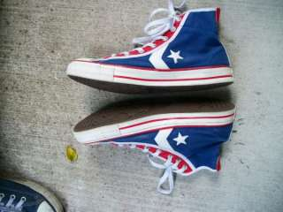 Vintage 90s Converse All stars Red White & Blue High Top Sneakers
