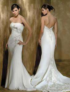 White Mermaid Wedding/Bridal dress Sz 6 8 10 12 14 16