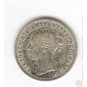 GREAT BRITAIN 1877 3 PENCE SILVER COIN