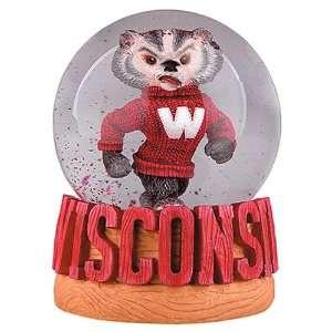 Treasures Wisconsin Badgers Musical Snow Globe  Sports