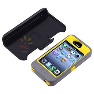 OtterBox Defender Series Case Cover W/Belt Holster For iPhone 4S Sun