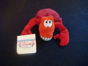 NWT  Little Mermaid 8 SEBASTIAN Plush Bean