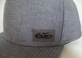 Nike 6.0 Chore Fitted Obsidian Gray Chambray Hat Ball Cap NWT