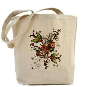 Tote Bag Live Free Birds   Peace Symbol Sign