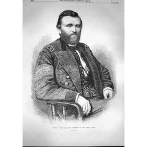 1869 Portrait General Grant President United States