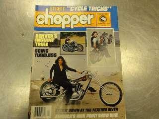 Street Chopper Magazine seventies back issue Harley, Triumph, Honda