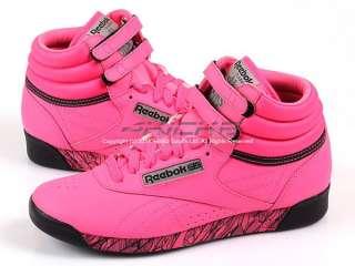 Reebok F/S HI Beat Neon Pink/Black/Silver Classic Women