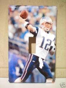 Tom Brady light switch cover jersey card autograph