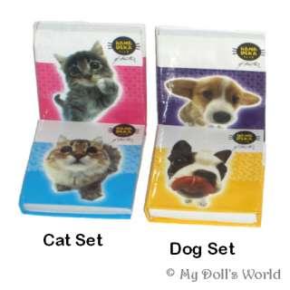 DOG/CAT BOOKS FIT AMERICAN GIRL DOLL STOCKING STUFFER