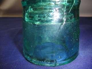 LIGHT GREEN BROOKFIELD GLASS INSULATOR X2