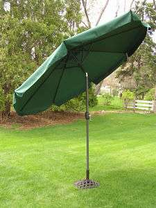 Foot Forest Green Outdoor Patio Deck Market Umbrella