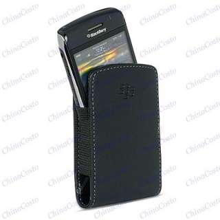 BLACK LEATHER POUCH CASE For BLACKBERRY Curve 8520 8530