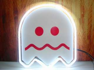 10x10 PACMAN White Ghost Beer Bar Pub Neon Light Sign S06 6