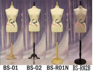 Manequin Manikin Jersey Body French Dress Form JF F6/8W+BS WB02