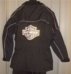 Davidson Waterproof Motorcycle Rain Suit Rainsuit Jacket Pants