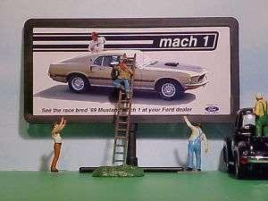 1969 Ford Mustang Mach 1 Fastback Billboard O 1/43 Car