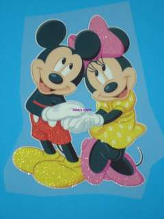 MICKEY & MINNIE MOUSE Iron On Heat Transfer Patch Motif Applique