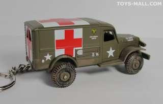 KEY CHAIN DODGE T214 WC54 AMBULANCE 4x4 MASH/ARMY/USMC
