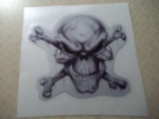 Skull & Cross Bones Reflective Coal Mining Sticker