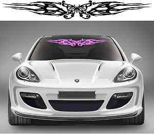 TRIBAL BUTTERFLY windshield decal / sticker for girls