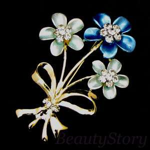 ADDL Item  rhinestone crystal flower brooch pin bouquet