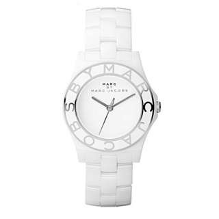 White ceramic logo watch   MARC BY MARC JACOBS   Bracelet   Fashion