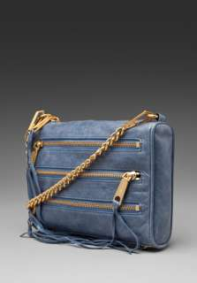 REBECCA MINKOFF Mini 5 Zip Clutch in Denim